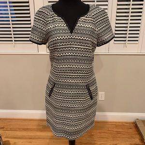 Rebecca Taylor Dress with leather trim sz 8